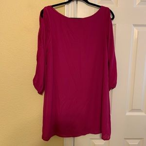 Pink dress with cutout sleeves